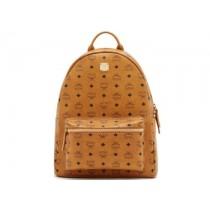 MCM Stark Medium Backpack - Cognac