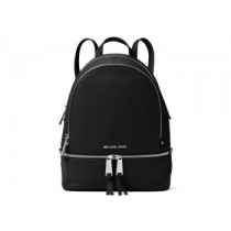 MK Rhea Zip Small Backpack Black