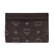 MCM Visetos Original Mini Card Case Black