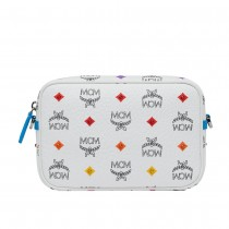 MCM Spektrum Visetos Camera Bag - Diamond White