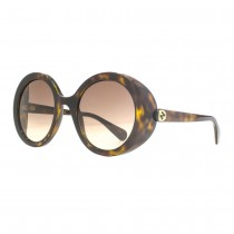 Gucci Ladies Havana Round, Brown Lens