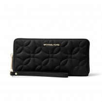 MK Travel Continental - Black Flora Quilted
