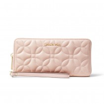 MK Travel Continental - Soft Pink Flora Quilted