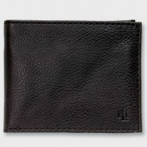 Ralph Lauren Tumbled Pebbled Leather Billfold Black