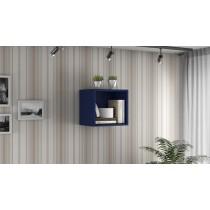 Smart Floating Cube Display Shelf in Blue