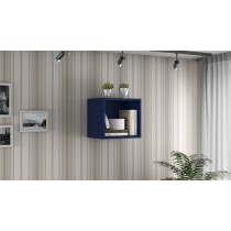 Smart Floating Cube Display Shelf in Black