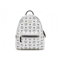 MCM Stark Small Side Stud Backpack White