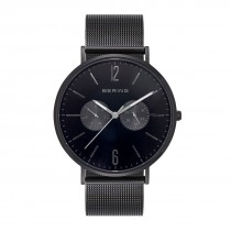 BERING Mens 14240-223 Classic Watch With Black Case & Black Mesh Strap