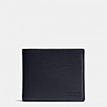Coach Men's Compact ID Wallet Midnight Navy