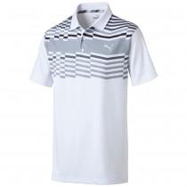 Puma Men's Road Map Golf Polo White/Blk