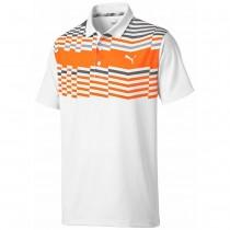 Puma Men's Road Map Golf Polo White/Org