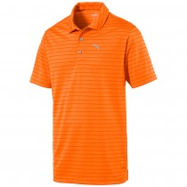 Puma Men's Rotation Stripe Polo Orange