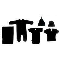 Bambini Black 6 Piece Layette Set