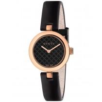 Gucci Diamatissima Black Lacquered Dial Ladies Watch
