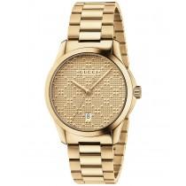 Gucci Unisex Swiss G-Timeless Gold-Tone PVD Stainless Steel Bracelet Watch 38mm YA126461