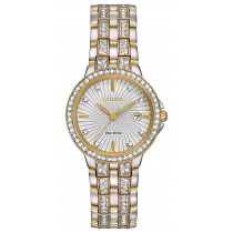 Citizen Ladies' Silhouette Crystal Eco-Drive Watch, Two-tone SS Bracelet, Swarvoski Crystal Accents