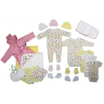 Bambini Newborn Baby Girls 25 Pc Layette Baby Shower Gift Set