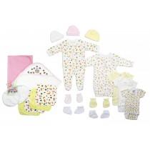 Bambini Newborn Baby Girls 21 Pc Layette Baby Shower Gift Set