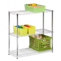Honey Can Do 3-Tier Heavy Duty Adjustable Shelving Unit, Chrome