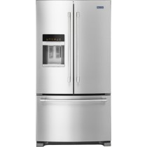 Maytag - 24.7 Cu. Ft. French Door Refrigerator (w/Kit)