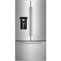 KitchenAid 23.8 Cu. Ft. French Door Counter-Depth Refrigerator PrintShield stainless (w/Kit)