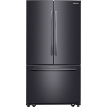 Samsung 25.5 Cu. Ft. French Door Refrigerator with Internal Water Dispenser Fingerprint Resistant Black Stainless Steel (w/Kit)
