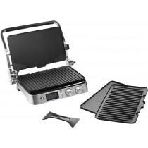 DeLonghi - Livenza All-Day Electric Grill - Black/Polished Chrome