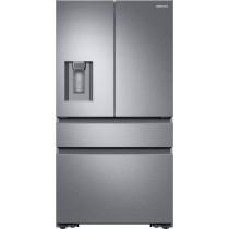 Samsung 22.6 Cu. Ft. 4-Door Flex French Door Counter-Depth Refrigerator Fingerprint Resistant Stainless Steel (w/Kit)