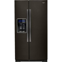 Whirlpool 28.4 Cu. Ft. Side-by-Side Refrigerator with Water and Ice Dispenser Black Stainless Steel (w/Kit)
