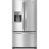 Whirlpool 24.7 Cu. Ft. French Door Refrigerator Stainless Steel (w/Kit)