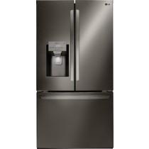 LG 27.9 French Door Smart Wi-Fi Enabled Refrigerator PrintProof Black Stainless Steel (w/Kit)