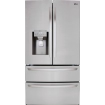 LG 27.8 4-Door French Door Smart Wi-Fi Enabled Refrigerator PrintProof Stainless Steel (w/Kit)