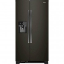 Whirlpool 21.4 Cu. Ft. Side-by-Side Refrigerator Black Stainless Steel (w/Kit)
