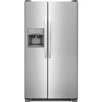 Frigidaire 25.6 Cu. Ft. Side-by-Side Refrigerator Stainless Steel (w/Kit)