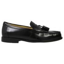 Men's Keaton Black Tasseled Moc Toe Shoe
