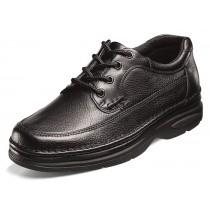 Men's Cameron Black Tumble Moc Toe Oxford Shoe