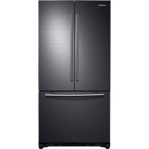 Samsung 18 Cu.Ft. French Door Counter-Depth Refrigerator Black Stainless Steel (w/Kit)