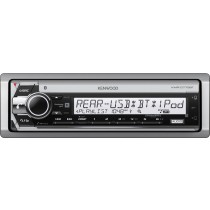 Kenwood - In-Dash CD Receiver - Built-in Bluetooth - Satellite Radio-ready with Detachable Faceplate - Gray