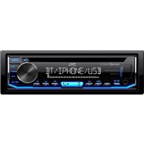 JVC - In-Dash CD/DM Receiver - Built-in Bluetooth with Detachable Faceplate - Black