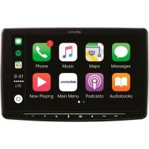 "Alpine - 9"" - Android Auto/Apple CarPlay - Built-In Bluetooth - In-Dash Digital Media Receiver - Black"