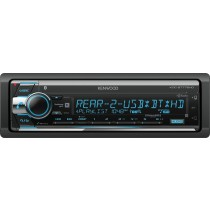 Kenwood - In-Dash CD/DM Receiver - Built-in Bluetooth - Satellite Radio-ready with Detachable Faceplate KDC-BT772HD - Black