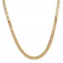 18K Gold over Sterling Silver Curb-Link Chain Necklace (6.5mm), Lobster Claw Clasp, 18""