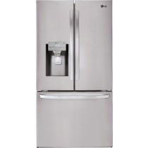 LG 26.2 Cu. Ft. French Door Smart Wi-Fi Enabled Refrigerator PrintProof Stainless Steel (w/Kit)