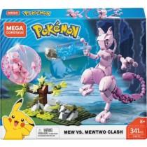 Mega Construx - Pokemon Mew vs Mewtwo Clash Building Set - Multicolor