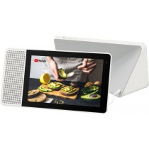 """Lenovo - 8"""" Smart Display with Google Assistant - White Front/Gray Back"""