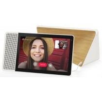"""Lenovo - 10""""Smart Display with Google Assistant - White Front/Bamboo Back"""