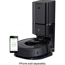 iRobot - Roomba i7+ 7550 App-Controlled Self-Charging Robot Vacuum with Automatic Dirt Disposal - Charcoal