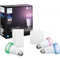 Philips Hue White and color Starter kit - wireless lighting set - LED light bulb x 3