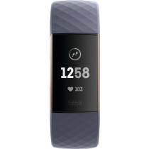 Fitbit - Charge 3 Activity Tracker + Heart Rate - Blue Gray/Rose Gold