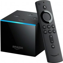 Amazon - Fire TV Cube 4K Streaming Media Player with Alexa and All-New Alexa Voice Remote - Black